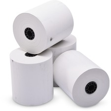 """ICONEX Thermal Cash Register Roll - 3 1/8"""" x 230 ft - Clear - 50 / Carton - White"""