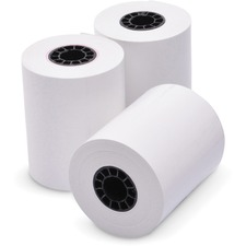 """ICONEX Thermal Cash Register Roll - 2 1/4"""" x 165 ft - Clear - 3 / Pack - White"""