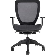 Nightingale All-Purpose Mesh Chair - Black Seat - Black Back - 5-star Base - Armrest - 1 Each