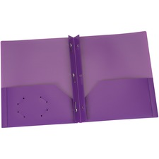 "Oxford Letter Pocket Folder - 8 1/2"" x 11"" - 135 Sheet Capacity - 3 x Prong Fastener(s) - 2 Internal Pocket(s) - Polypropylene - Purple - 1 Each"