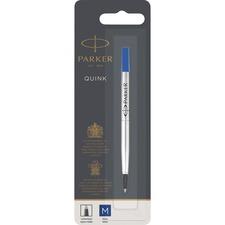 Parker Rollerball Pen Refill - 0.50 mm, Medium Point - Blue Ink