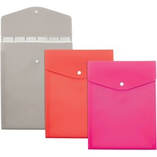 """Pendaflex Slimline Letter File Pocket - 8 1/2"""" x 11"""" - 7 Pocket(s) - Polypropylene - Assorted - 1 Each"""