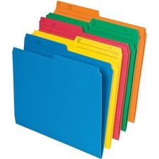 "Pendaflex 1/2 Tab Cut Letter Recycled Top Tab File Folder - 8 1/2"" x 11"" - Stock - Assorted - 10 / Pack"