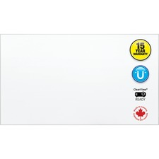 """Quartet Clearview Dry Erase Board - 85"""" (7.1 ft) Width x 48"""" (4 ft) Height - Clear Anodized Aluminum Frame - Rectangle - 1 Each"""