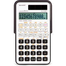 """Sharp EL510RTB 169Functions Scientific Calculator - 169 Functions - Protective Hard Shell Cover, Dual Power - 11 Digits - LCD - Battery/Solar Powered - 0.4"""" x 3"""" x 5.3"""" - 1 Each"""