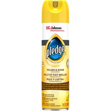 Pledge Lemon Enhancing Polish - Spray - Lemon Clean ScentAerosol Spray Can - 1 Each