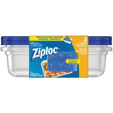 Ziploc® Containers Large Rectangle 2/pkg - 2.12 L Food Container - Dishwasher Safe - Microwave Safe - 2 Piece(s) / Pack