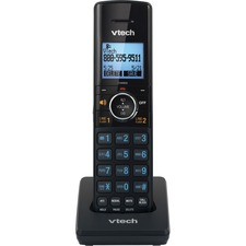 VTech 2-line Cordless Phone Accessory Handset - Cordless - DECT 6.0 - 50 Phone Book/Directory Memory - 2 x Total Number of Phone Lines - Black
