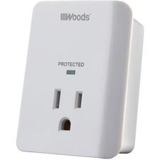 Wood Industries 1-Outlet Surge Suppressor/Protectors - 1 x AC Power - 1.80 kVA - 1080 J - 120 V AC Input