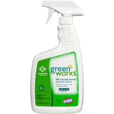 CLO 00452PL Clorox Green Works Natural Bathroom Cleaner Spray CLO00452PL