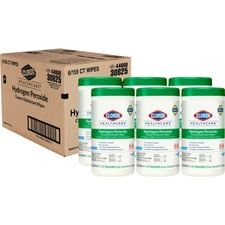 CLO 30825CT Clorox Hydrogen Peroxide Disinfecting Wipes CLO30825CT