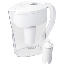 Brita Space Saver Water Filter Pitcher - Pitcher - 40 gal / 2 Month - 6 Cups Pitcher Capacity - 152 / Pallet - White