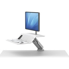 "Fellowes Lotusâ""¢ RT Sit-Stand Workstation White Single - 1 Display(s) Supported"