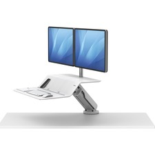 "Fellowes Lotusâ""¢ RT Sit-Stand Workstation White Dual - 2 Display(s) Supported"