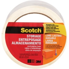 "Scotch Packaging Tape - 54.7 yd (50 m) Length x 1.89"" (48 mm) Width - Clear"