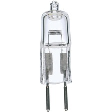 Satco Halogen Light Bulb - 20 W - 12 V DC - 300 lm - Capsule - T3 Size - Clear - Warm White Light Color - G4 Base - 2000 Hour - 4760.3°F (2626.8°C) Color Temperature - Dimmable - UV Protection - 1 Each