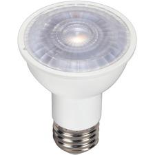 Satco LED Light Bulb - 6.50 W - 60 W Incandescent Equivalent Wattage - 120 V AC - 500 lm - PAR16 Size - Natural Light Light Color - E26 Base - 25000 Hour - 8540.3°F (4726.8°C) Color Temperature - 80 CRI - 40° Beam Angle - Dimmable - 1 Each