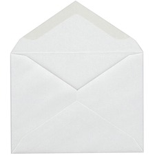 Supremex SPX01201-Invitation Envelopes - Stationery - #5 - 24 lb - V-shaped Flap - 100 / Box - White