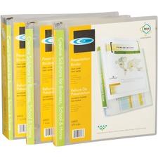 """VLB Presentation Binder - 2"""" Binder Capacity - Letter - 8 1/2"""" x 11"""" Sheet Size - Front Pocket(s) - Poly - Clear - Spine Label - 1 Each"""
