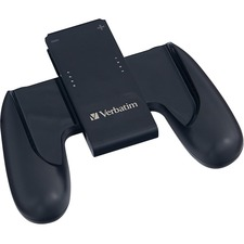 Verbatim Charging Controller Grip For Use with Nintendo Switch Joy-Con Controllers - Black