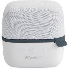 Verbatim Bluetooth Speaker System - White - 100 Hz to 20 kHz - TrueWireless Stereo - Battery Rechargeable - 1 Pack