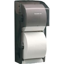"Cascades PRO Tissue Dispenser - Roll Dispenser - 13.63"" (346.08 mm) Height x 6.63"" (168.28 mm) Width x 6"" (152.40 mm) Depth - Plastic - Black - Locking Cover, Transparent"