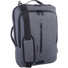 "Nextech Business Case Carrying Case (Backpack/Briefcase) for 15.6"" Notebook - Gray - Polytex - Shoulder Strap - 9"" (228.60 mm) Height x 2.50"" (63.50 mm) Width x 11"" (279.40 mm) Depth"