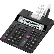 Casio HR-200RC-WA-CC Printing Calculator - Dual Color Print - 2 lps - Large Display, Dual Power - Battery/Power Adapter Powered - AA