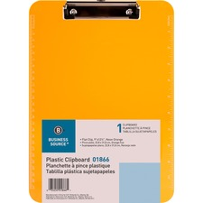BSN 01866 Bus. Source Flat Clip Plastic Clipboard BSN01866