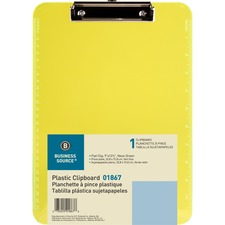 BSN 01867 Bus. Source Flat Clip Plastic Clipboard BSN01867