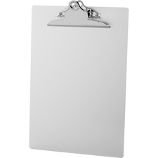 "Business Source Aluminum Clipboard - 8 1/2"" x 12"" - Clamp - Aluminum - Silver - 1 Each"
