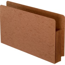 """Pendaflex Straight Tab Cut Legal Recycled File Pocket - 8 1/2"""" x 14"""" - 1050 Sheet Capacity - 5 1/4"""" Expansion - End Tab Location - Red Fiber - Red - 1 Each"""
