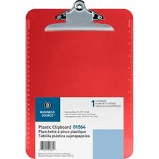 BSN 01864 Bus. Source Spring Clip Plastic Clipboard BSN01864