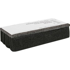 Lorell Chalkboard Eraser - Noiseless, Dustless - Black - Felt - 1Each