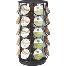 "Mind Reader 35-pod Coffee Carousel - 35 x Coffee Pod - 12.3"" Height x 6.1"" Width - Black - 1Each"