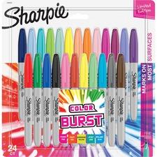 Sharpie Color Burst Permanent Marker - Fine Marker Point - Pink - 24