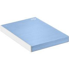 Seagate Backup Plus Slim STHN1000402 1 TB Portable Hard Drive - External - Light Blue - USB 3.0 - 3 Year Warranty - 1 Pack - Retail
