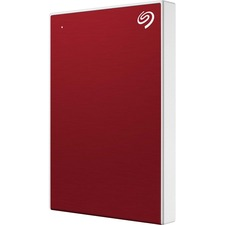 """Seagate Backup Plus Slim STHN2000403 2 TB Portable Hard Drive - 2.5"""" External - Red - USB 3.0 Type C - 2 Year Warranty - 1 Pack - Retail"""