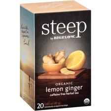 BTC 17704 Bigelow Lemon Ginger Herbal Tea BTC17704