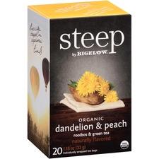BTC 17715 Bigelow Dandelion and Peach Rooibos and Green Tea BTC17715