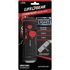 DCY LG3860675RED Dorcy Intl Life Gear Stormproof Crank Light DCYLG3860675RED