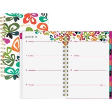 AAG1283200 - At-A-Glance Jane Dixon Flutter Weekly/Monthly Planner