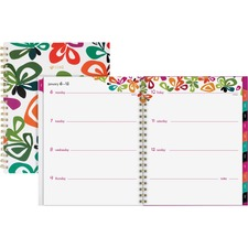 AAG1283905 - At-A-Glance Jane Dixon Flutter Weekly/Monthly Planner
