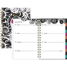 AAG1286200 - At-A-Glance Jane Dixon Nautilus Weekly/Monthly Planner