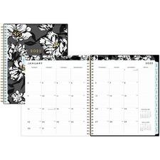 BLS 110216 Blue Sky Baccara DarkFloral Design Monthly Planner BLS110216