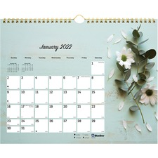 RED C172122 Rediform Romantic Flowers Mthly Wall Calendar REDC172122