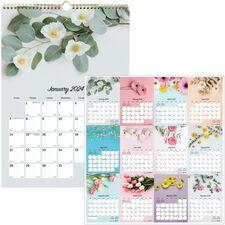 RED C173122 Rediform Romantic Flowers Mthly Wall Calendar REDC173122