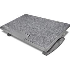 Kensington SmartFit SoleMate Pro Elite Ergonomic Foot Rest - 18° Tilt - Gray - Fabric
