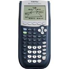 Texas Instruments TI-84 Plus Graphing Calculator - Clock, Date, Battery Backup - 24 KB, 480 KB - RAM, Flash - 8 Line(s) - 16 Digits - Battery Powered - 4 - AAA - Black - 1 Each