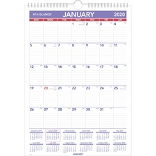 AAG PM22820 AT-A-GLANCE Monthly Wall Calendar AAGPM22820